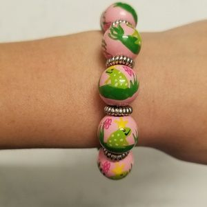 Jewelry - Princess & Frog Hand Painted Wood Beads Bracelet